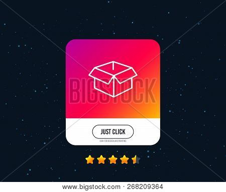 Opened Box Line Icon. Logistics Delivery Sign. Parcels Tracking Symbol. Web Or Internet Line Icon De