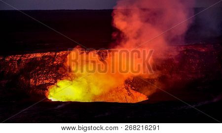 Hawaii Volcanoes Park Encompasses 333,000 Acres From The Summit Of Maunaloa To The Sea. There Are Tw
