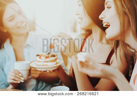 Happy Time With Friends. Happy Friends Like Laugh And Spend Time Together. Love Friend And People. F