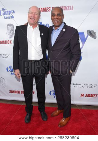 LOS ANGELES - OCT 28:  Gregg Henry and Joe Morton arrives for the Carney Awards 2018 on October 28, 2018 in Santa Monica, CA