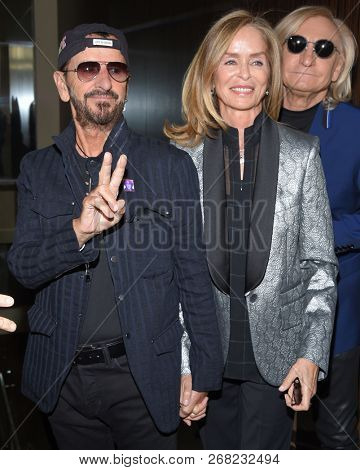 LOS ANGELES - OCT 27:  Ringo Starr and Barbara Bach Starkey arrives to the Friendly House Lucheon  on October 27, 2018 in Hollywood, CA