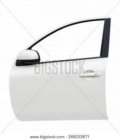 Front Car Door Isolated On White Background With Clip Path