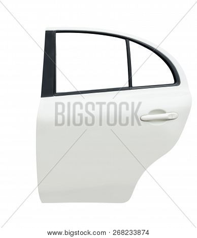 Back Car Door Isolated On White Background With Clip Path