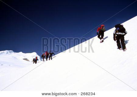 Climbing Mera Peak