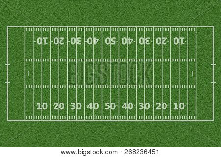Top Views Of American Football Field Background