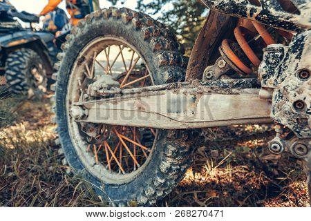 Motocross Bike - Details. Object. Macro Photography. Close Up
