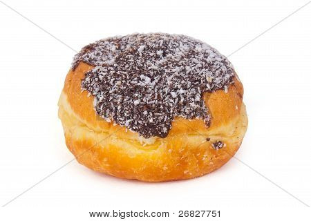 Donut With Chocolate Icing