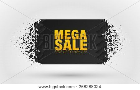 Sale Banner Template Design, Big Sale Special Offer. End Of Season Special Offer Banner. Banner With