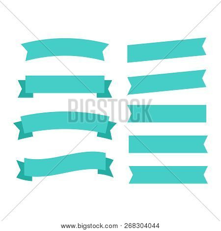 Cartoon Banners And Comic Ribbons. Colored Banner Ribbon. Banner Ribbon Vector Set