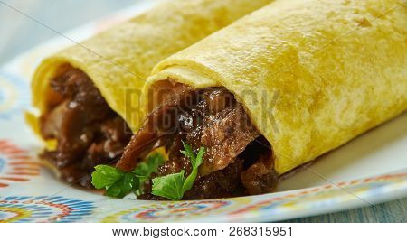 Cheesy Baked Bbq Pork Taquitos, Place Filled Tortillas Seam Side Down On A Baking Shee