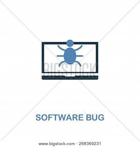 Software Bug Icon In Two Colors. Premium Design From Internet Security Icons Collection. Pixel Perfe