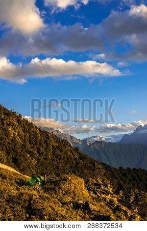 Camping In Mountains - Khaliya Top Munsiyari, Uttarakhand