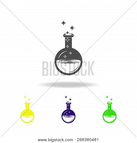 Magic Elixir Multicolored Icon. Element Of Popular Magic Icon. Signs And Symbols Icon Can Be Used Fo