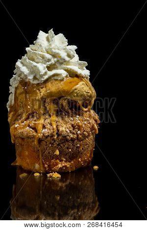 Apple Cake With Ice Cream