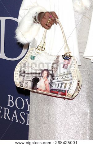 WEST HOLLYWOOD - OCT 29: Shea Diamond, purse detail arriving at the Premiere of Boy Erased at the Directors Guild of America on October 29, 2016 in West Hollywood, California