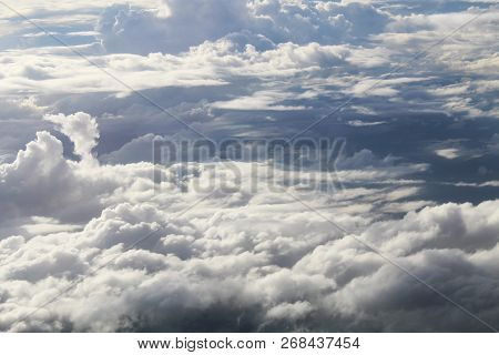 Beautiful Blue Sky With Clouds Background. Sky Clouds.sky With Clouds Weather Nature Cloud Blue