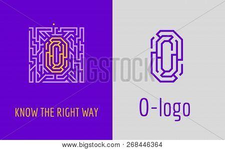 O Letter Logo Maze. Creative Logo For Corporate Identity Of Company: Letter O. The Logo Symbolizes L