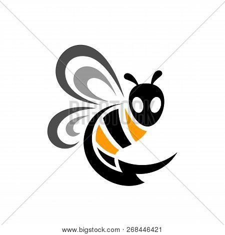 Thunder Bee Logo. Bee With Thunder Tail