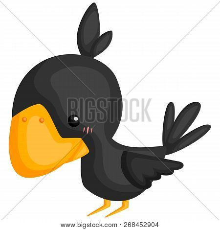A Vector Of A Cute And Adorable Crow