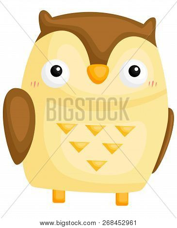 A Vector Of A Cute And Adorable Owl