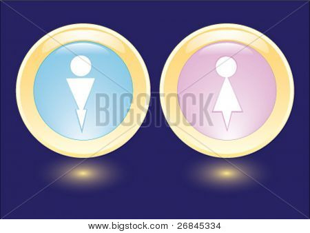 Vector collection icons with man and woman silhouette