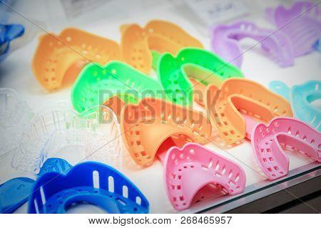 Samples Of Colorful Plastic Dental Impression Trays