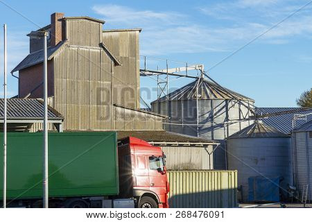 Motor Mill In Germany / The Mill Produces High-quality Animal Feed For The Supply Of Breeders