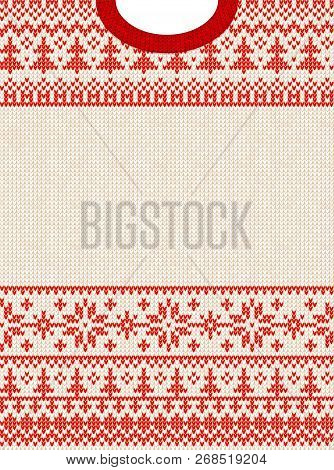 Ugly Sweater Merry Christmas Happy New Year Greeting Card Frame.