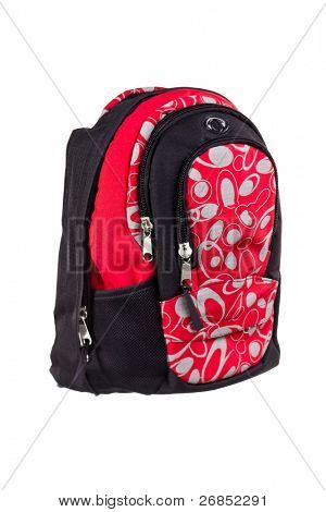 Book bag isolated on white