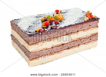 Pastry Cake isolated on white