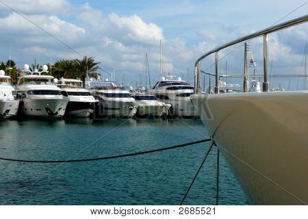 Boats In A Marina