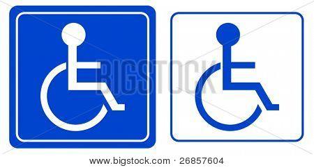 handicap or wheelchair person symbol, vector