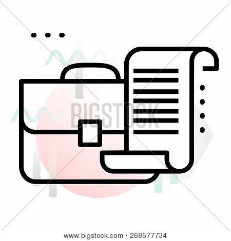 Concept Icon Of Business Stock Portfolio With Abstract Background, Modern Thin Line Design Vector Il