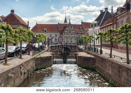 The Canal Eem In The Old Town Of The City Of Amersfoort In The Netherlands