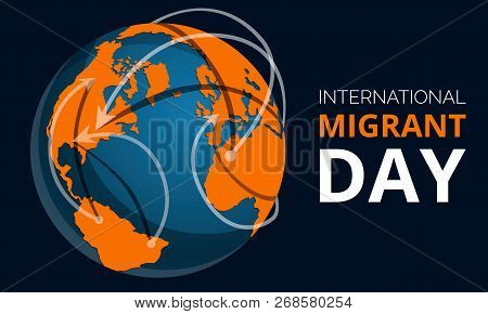 Global Migrant Day Concept Banner. Cartoon Illustration Of Global Migrant Day Concept Banner For Web