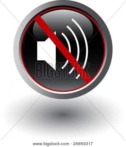 Symbol of silent mode, mute, vector web icon