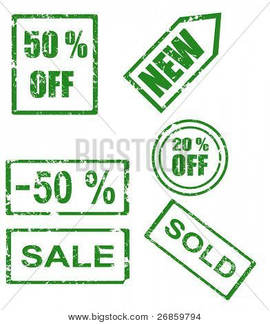 Rubber stamp series - sales