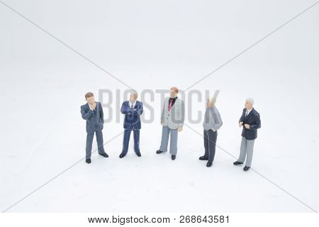 A Mini Business Figure Meeting On Board
