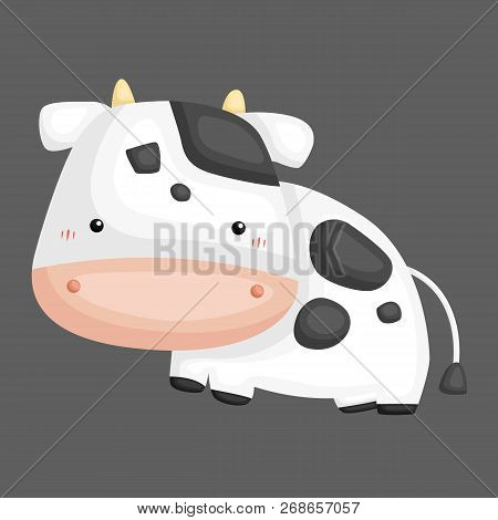 A Vector Of A Cute And Adorable Cow