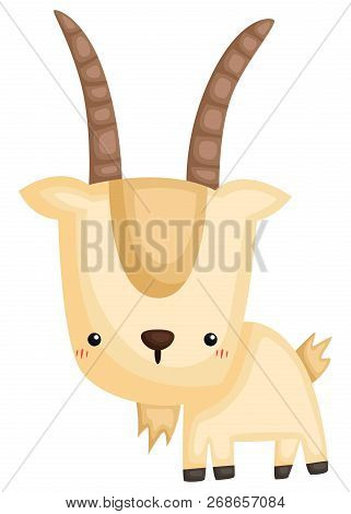 A Vector Of A Cute And Adorable Goat