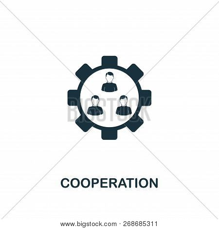 Cooperation Icon. Premium Style Design From Teamwork Icon Collection. Ui And Ux. Pixel Perfect Coope