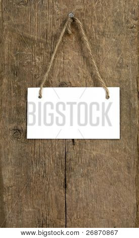 signboard on wood background texture poster