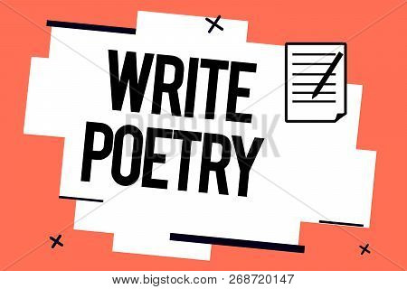 Handwriting Text Writing Write Poetry. Concept Meaning Writing Literature Roanalysistic Melancholic