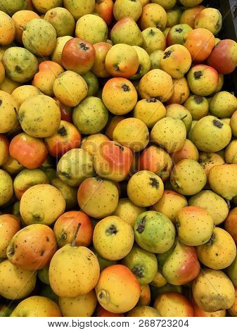 Jocote Also Called Tejocote, A Small Exotic Tropical Fruit Popular In Central America