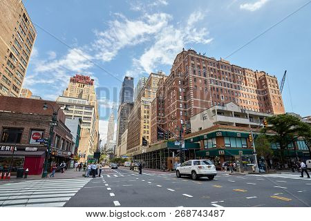 New York, Usa - June 28, 2018: City Life In The