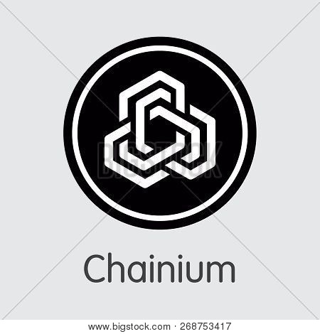 Icon Chainium Cryptocurrency. Vector Chx Coin Illustration.