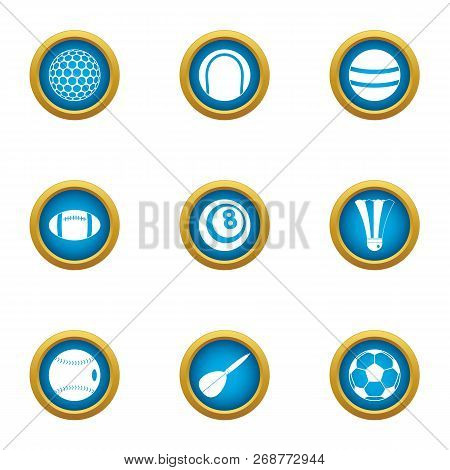 Dribble Icons Set. Flat Set Of 9 Dribble Icons For Web Isolated On White Background
