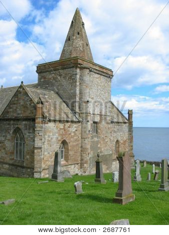 Old church by the sea