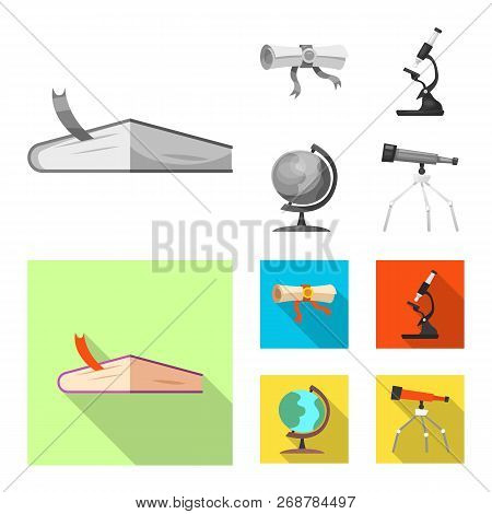 Vector Design Of Education And Learning Sign. Collection Of Education And School Stock Symbol For We