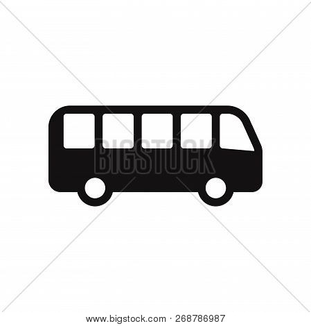Bus Icon Isolated On White Background. Bus Icon In Trendy Design Style. Bus Vector Icon Modern And S